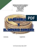 La Republica y El Imperio Romano