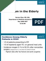 delirium in the elderly