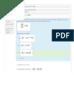 Cuestionario Fórmulas de Derivación vs Fórmulas Diferenciales