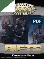 Savage Rifts Character Folio