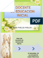Perfil Del Docente de Educacion Inicial