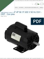 General 025 HP 4P 56 1F 220 v 50 Hz IC01 - ODP - Con Pies Motor de Chapa de Ac