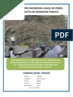 ESTUDIO DE PRE INVERSIÓN DE SISTEMA DE RIEGO