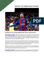 Demi Messi, Manchester City Siapkan Dana Fantastis