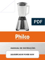 Liquidificador Philco Power 800W - 053101017_manual_manual