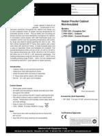 Calentador Gabinete PW 120 C H Specs