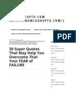 30 Super Quotes vs Fear