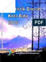 Statistik Daerah Kota Batu 2016