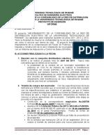 Informe Del Proyecto de Inversión Mejora en La Confiabilidad