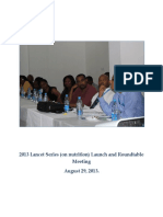 2013 Lancet Series (on nutrition) Launch and Roundtable Meeting