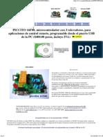 Piccito 16f88 Microcontrolador Para Uso Industrial Con 3 Relevadores Punto Flotante s.a.