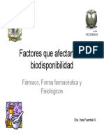 Factores Que Afectan La Biodisponibilidad