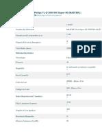 Especificaciones Philips TL