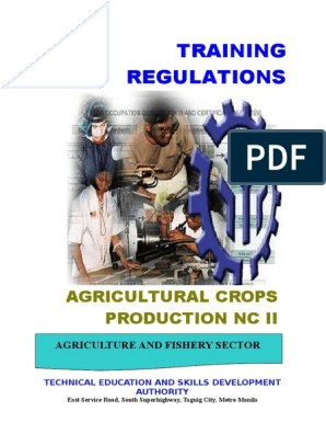 TR - Agricultural Crops Production NC II doc   Occupational