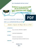 Monog Analisis e Impacto Del Riesgo Pais en El Peru