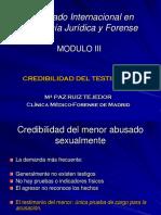 Credibilidad Del Testimonio - Maripaz Ruiz Tejedor