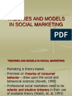 Theories and Models in Social Marketing Social Marketing - Lecture 3