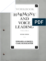 Workbook Harmony an Voice Leading Aldwell Schachter