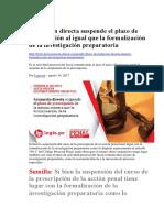 Acusación Directa Suspende El Plazo de Prescripción Al Igual Que La Formalización de La Investigación Preparatori1