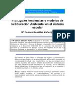 Principales Tendencias y Modelos de La Educación Ambiental en El Sistema Escolar
