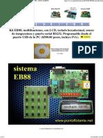 Tarjeta Sistema de Desarrollo Eb88 Pic 16f88 Tarjeta Entrenadora Punto Flotante s