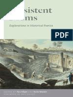 Persistent Forms - Explorations in Historical Poetics - Eds. Ilya Kliger & Boris Maslov