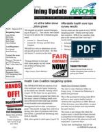 CWU Bargaining Update 8/17/10