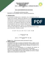 Determinacion Del Calor Especifico de Un Solido