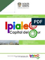 Lineamientos Para La Elaboración de PEI Ipiales 2017