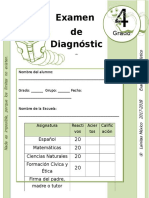 4to Grado - Examen de Diagnóstico (2017-2018)