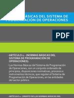 Normas Básicas Del Sistema de Programación de Operaciones
