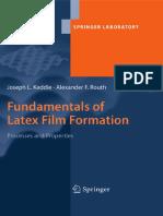 [Joseph Keddie, Alexander F. Routh] Fundamentals of Latex Film Formation