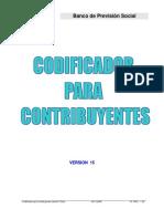 Codificador Para Contribuyentes Version 15