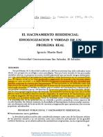 1985 Hacinamiento Residencial Ideologización y Verdad de Un Problema Real RP1990 9-35-23 51 Unlocked