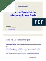Violencia domestica - Projecto de Intervenção em Rede