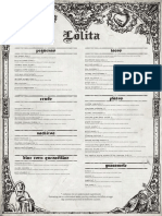 Lolita Cocina & Tequila Bar Fort Point Dinner and Beverage Menus