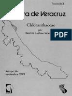 Flora de Veracruz Chlorantaceae