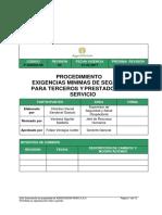 P-SGSSO-08 Exigencias Mínimas de Seguridad Para Terceros y Prestadores de Servicios (2).. (2)