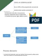 Organización Como Un Sistema Social Cooperativo