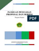Panduan Proposal Dan Skripsi UNCP 2014 Versi 2
