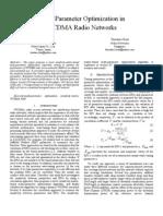 MultiparameterOptimizationinWCDMARadioNetworks