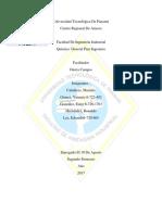 Universidad Tecnológica de Panamá Quimica