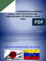 Becas Del Gobierno Japonés Para Estudiantes de Pregrado Venezolanos 2018