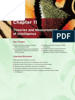 Theories and Measurement of Intelligence