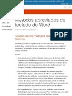 Métodos abreviados de teclado de word
