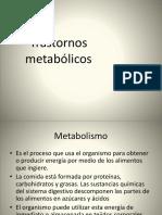 Trastornos metabólicos