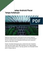 Cara Menyadap Android Pacar Tanpa Ketahuan