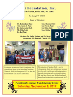 Annual Fund Raising Event Brochure 2017
