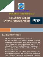 Mekanisme Akreditasi SPK Bandung 19 Nov 2015 BANSM