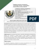 Programa de Historia Económica Del Siglo XX  Semestre II-2017